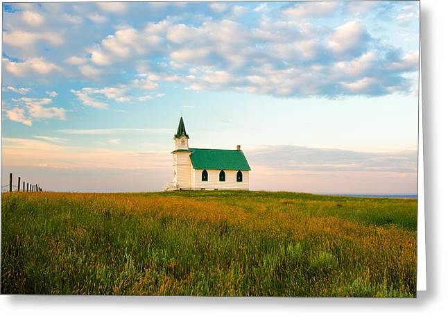Prairie Parish Greeting Card by Todd Klassy