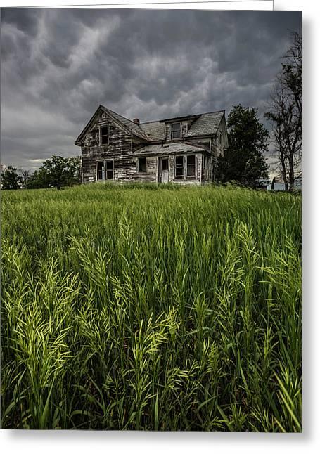 Prairie Rain  Greeting Card by Aaron J Groen