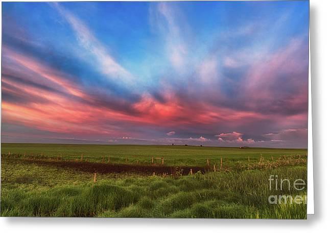 Prairie Skies Greeting Card by Ian McGregor