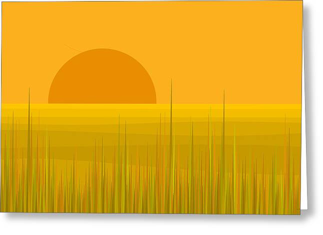 Prairie  Sundown Greeting Card
