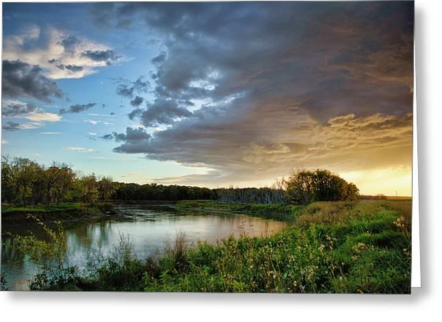 Prairie Sunset Greeting Card