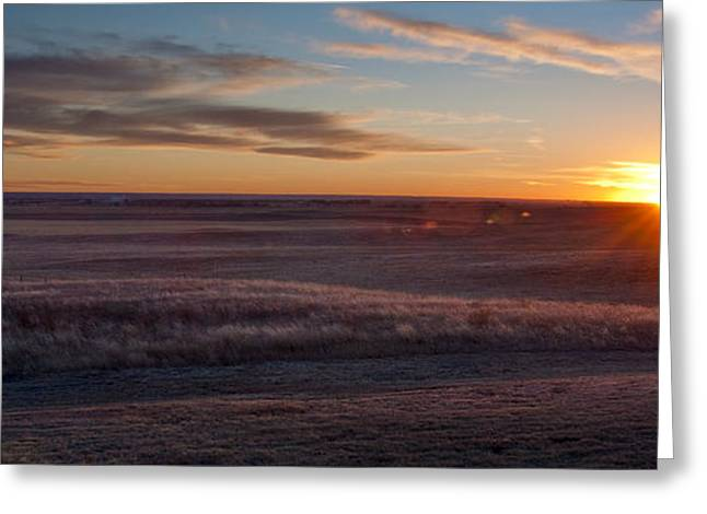 Prairie Landscape Greeting Cards - Prairie Sunset Greeting Card by Ryan Heffron