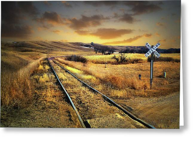 Prairie Tracks Greeting Card