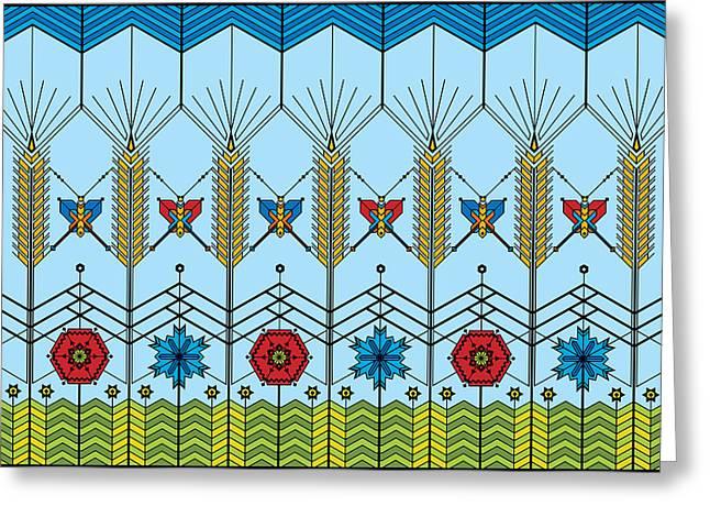 Prairie Wheat Greeting Card by Vlasta Smola