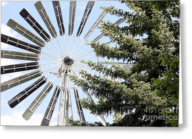 Prairie Windmill Greeting Card