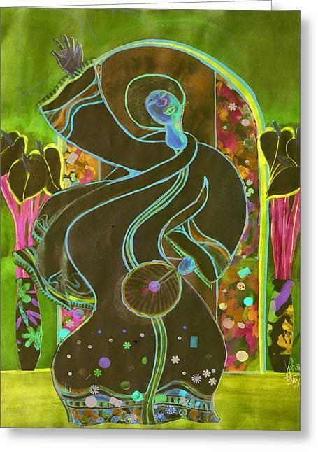 Praise Greeting Card by Joyce Miles