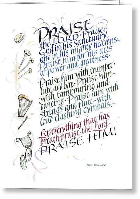 Praise The Lord Greeting Card by Judy Dodds