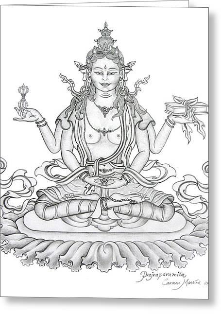 Prajnaparamita -perfection Of Wisdom Greeting Card