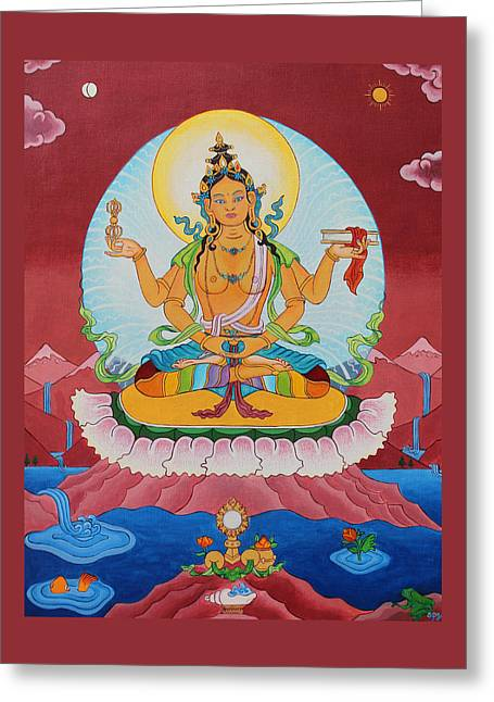 Prajnaparamita Greeting Card by Sarah Grubb