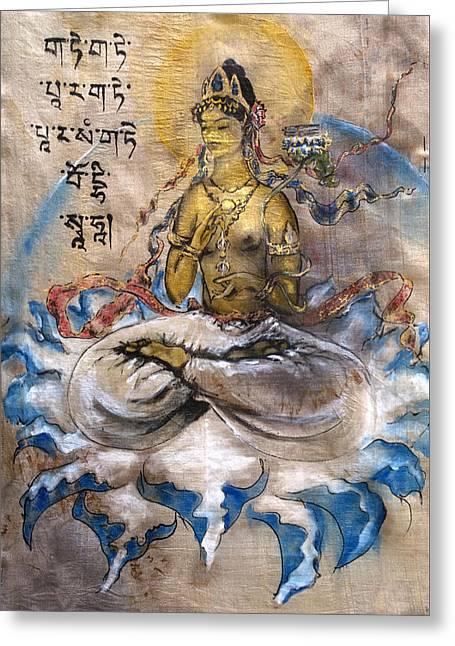 Prajnaparamita  Greeting Card by Silk Alchemy