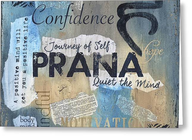 Prana Greeting Card by Debbie DeWitt