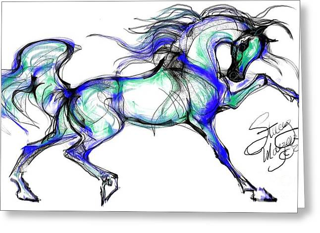 Prancing Arabian Horse Greeting Card
