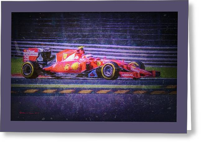 Prancing Horse Vettel Greeting Card by Marvin Spates