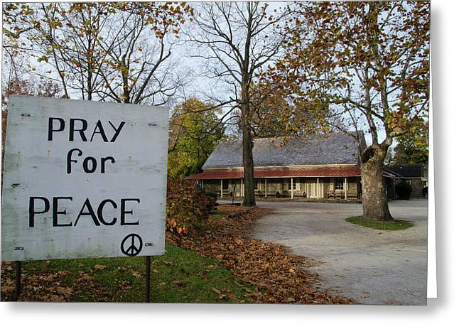 Pray For Peace - Plymouth Meeting Freinds Greeting Card by Bill Cannon
