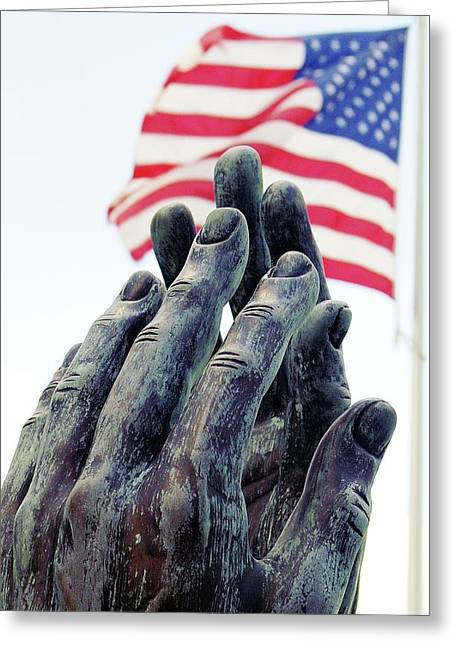 Pray For The Usa Greeting Card