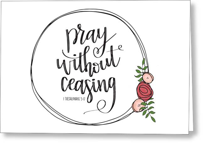 Pray Without Ceasing Wreath Greeting Card
