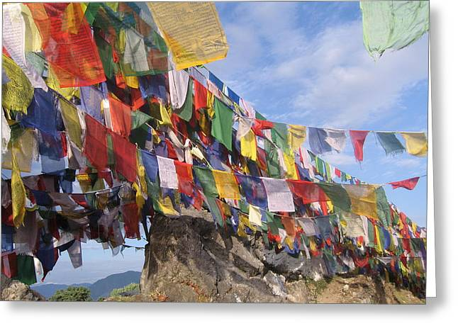 Prayer Flags In Happy Valley Greeting Card