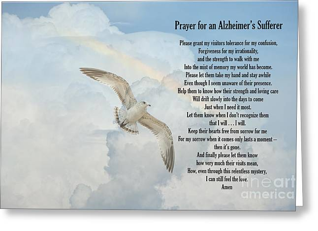 Prayer For An Alzheimer's Sufferer Greeting Card