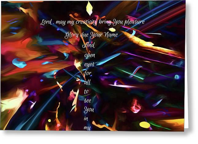 Greeting Card featuring the digital art Prayer Of An Artist by Margie Chapman