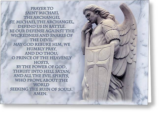 Prayer To St. Michael  Greeting Card by Samuel Epperly
