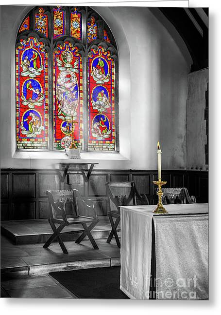 Prayers And Hope Greeting Card by Adrian Evans