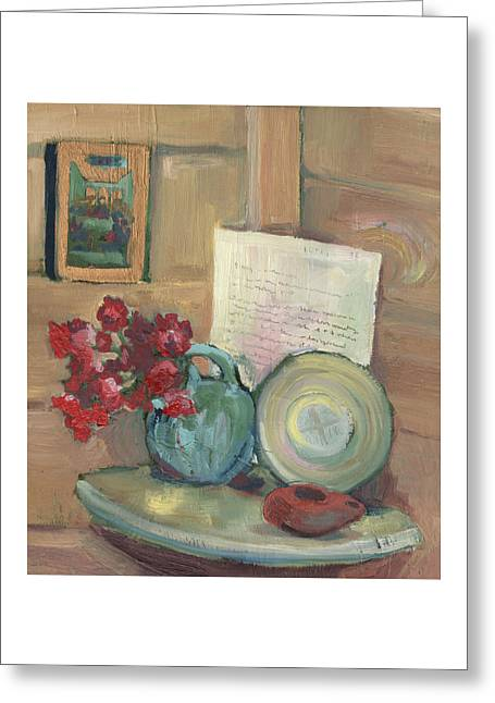 Prayers At The Table Greeting Card by Laura Wilson