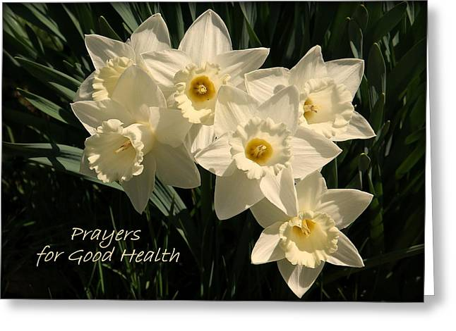 Prayers For Good Health Greeting Card