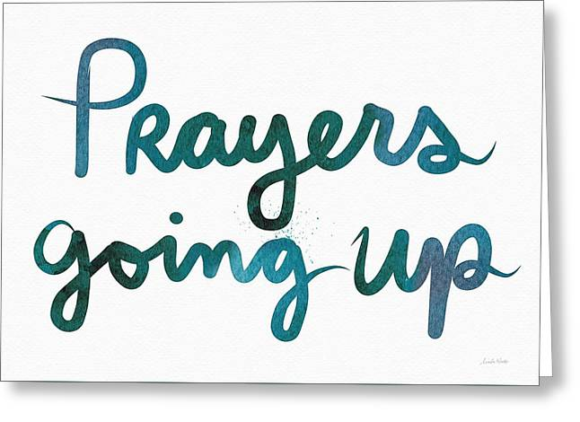 Prayers Going Up- Art By Linda Woods Greeting Card by Linda Woods