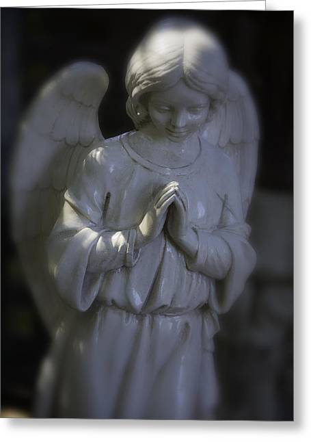 Praying Angle Greeting Card by Garry Gay