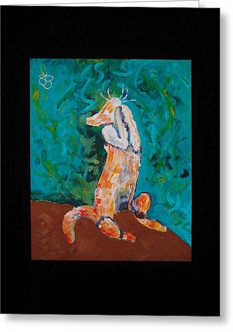 Praying Cat Greeting Card