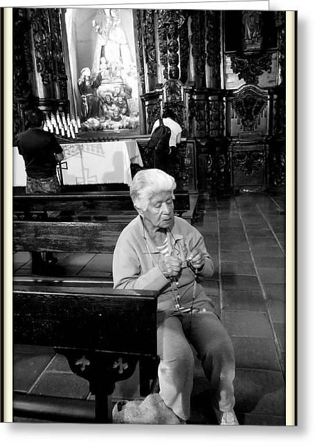 Praying Greeting Card by Daniel Gomez