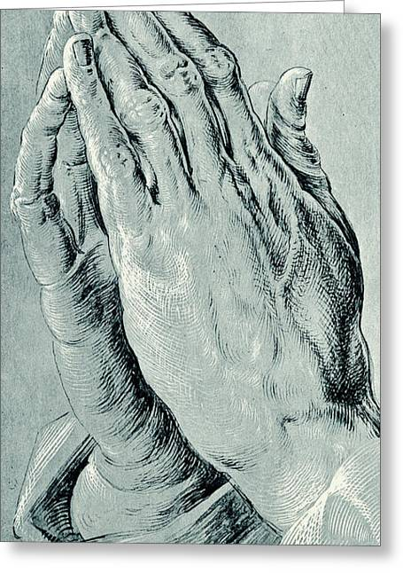 Praying Hands, Also Known As Study Of The Hands Of An Apostle  Greeting Card