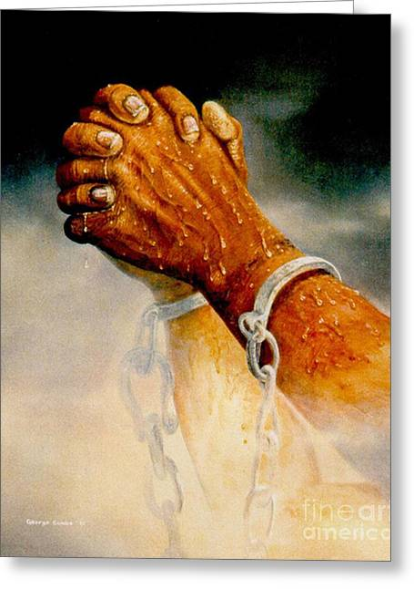 Praying Hands Greeting Card by George Combs