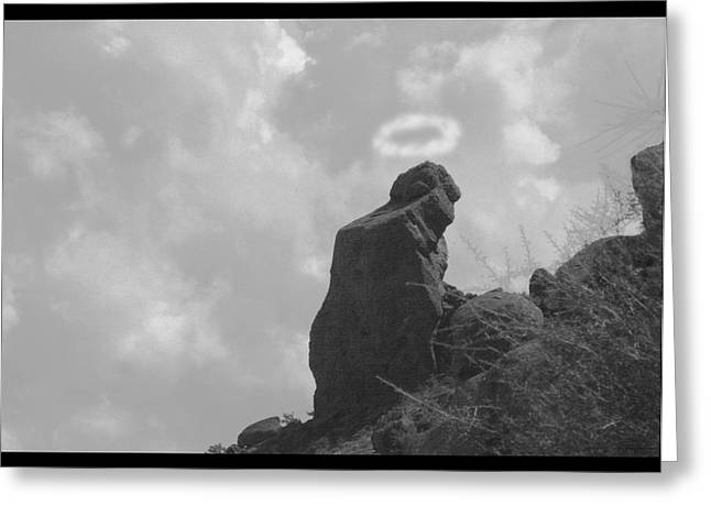 Praying Monk - Arizona - Poster Print Greeting Card by James BO  Insogna