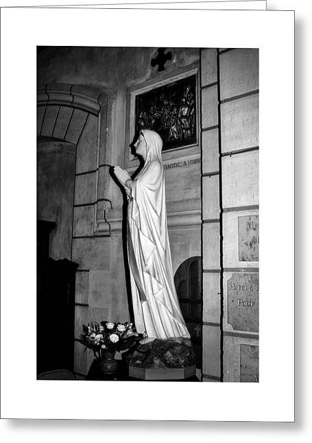 Greeting Card featuring the photograph Praying Nun 2 by Elf Evans