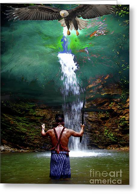 Greeting Card featuring the photograph Praying To The Spirits by Al Bourassa