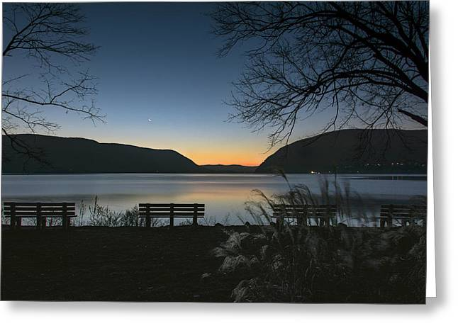 Dawn At Plum Point Greeting Card by Angelo Marcialis