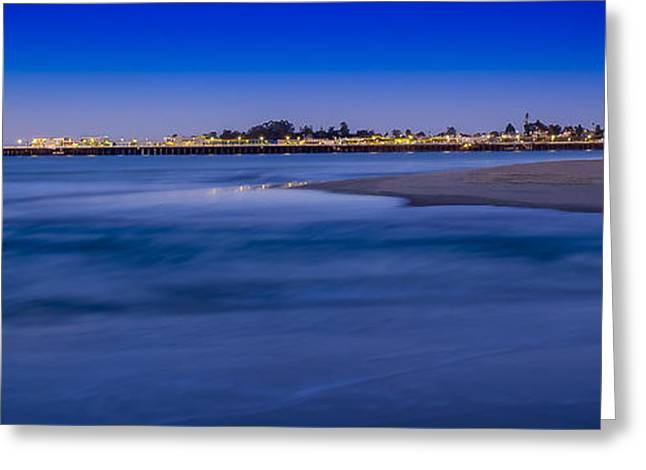 Pre Dawn In Santa Cruz Greeting Card by Steve Spiliotopoulos