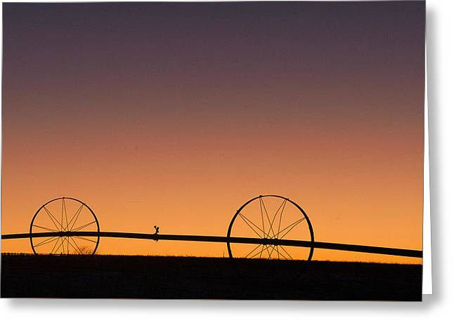 Pre-dawn Orange Sky Greeting Card by Monte Stevens