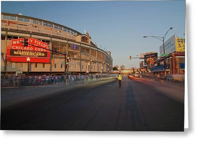 Pre-game Cubs Traffic Greeting Card by Sven Brogren
