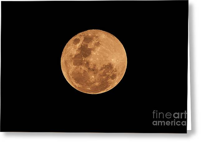 Post-penumbral Moon Greeting Card by Venura Herath