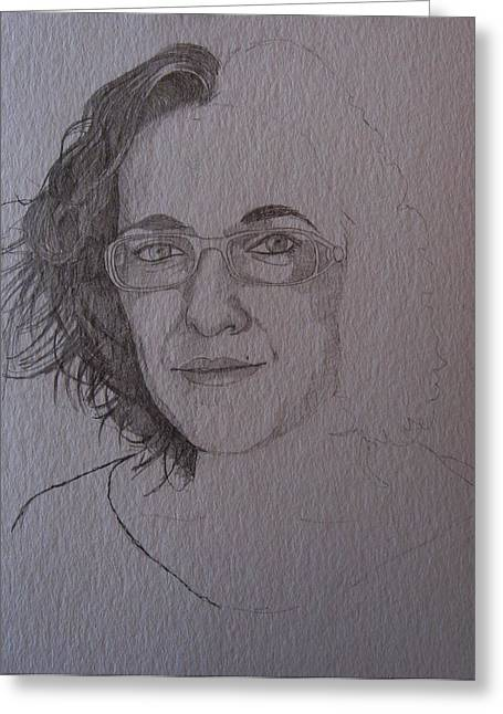 Pre Sketch For Clare Pencil Greeting Card by Ray Agius