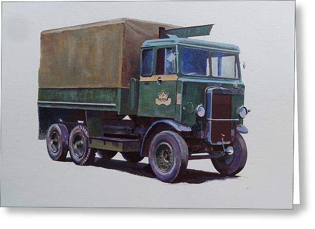 Pre-war Leyland Wrecker. Greeting Card by Mike Jeffries