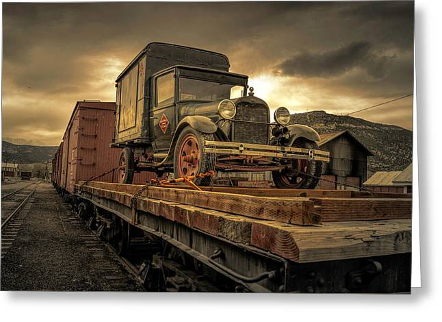 Greeting Card featuring the photograph Precious Cargo by Steve Benefiel