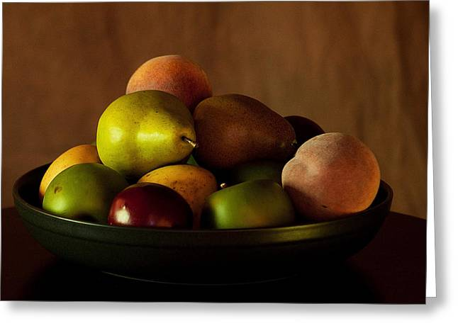 Precious Fruit Bowl Greeting Card by Sherry Hallemeier