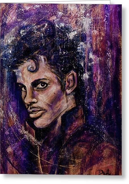 Precious Metals, Prince Greeting Card by Debi Starr