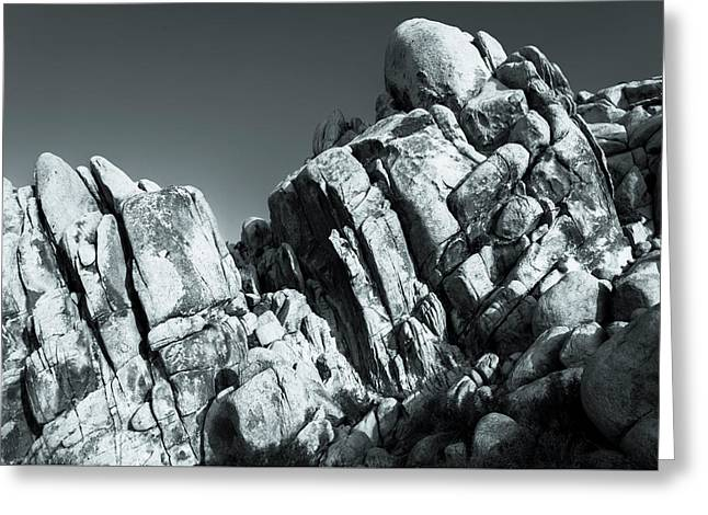Precious Moment - Juxtaposed Rocks Joshua Tree National Park Greeting Card