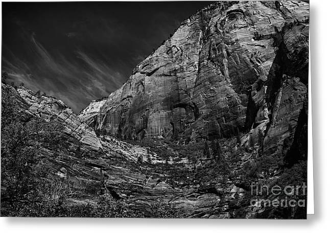 Precipice At Zion National Park Lll Greeting Card by Hideaki Sakurai