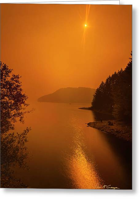 Greeting Card featuring the photograph Preclipse 8.17 by Dan McGeorge