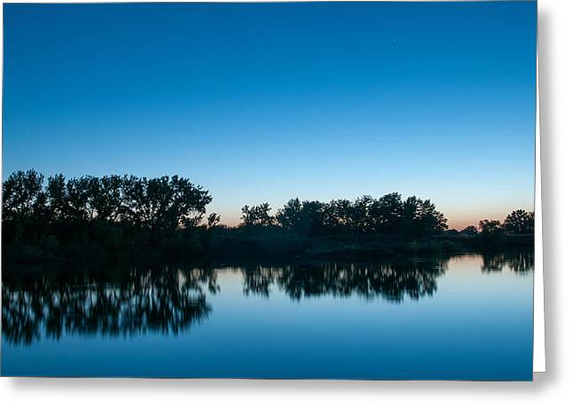Greeting Card featuring the photograph Predawn At Arapaho Bend by Monte Stevens